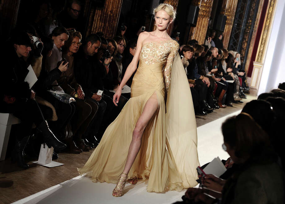 A model presents a creation for Lebanese fashion fashion designer Zuhair Murad's Spring-Summer 2013 Haute Couture fashion collection, presented in Paris, Thursday, Jan. 24, 2013. Photo: Zacharie Scheurer, ASSOCIATED PRESS / AP2013