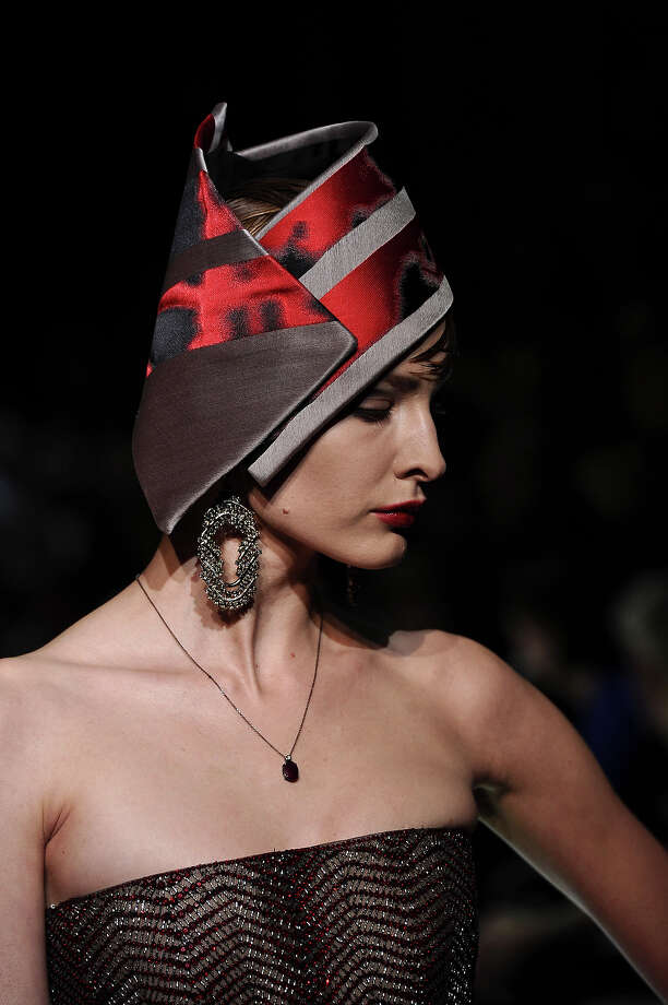 A model wears a creation by fashion designer Giorgio Armani as part of his Spring/Summer 2013 Haute Couture fashion collection, in Paris, Tuesday, Jan. 22, 2013. Photo: Zacharie Scheurer, ASSOCIATED PRESS / AP2013
