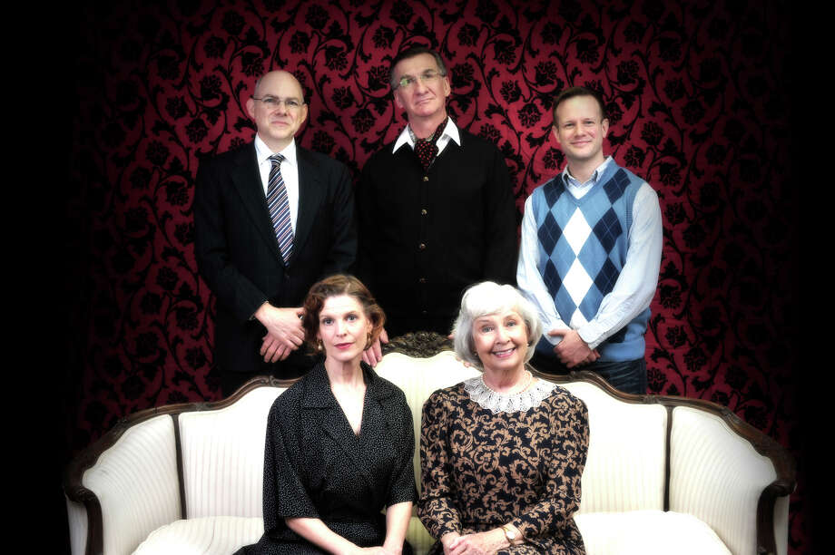 "The A.R. Gurney play ""Ancestral Voices"" about family dysfunction and the decline of rust belt cities is being presented by the Music Theatre of Connecticut in Westport from Feb. 1 to 17. The cast includes (clockwise from top left) John Flaherty, John Little, Michael McGurk, Jo Anne Parady and Marty Bongfeldt. Photo: Contributed Photo / Connecticut Post Contributed"