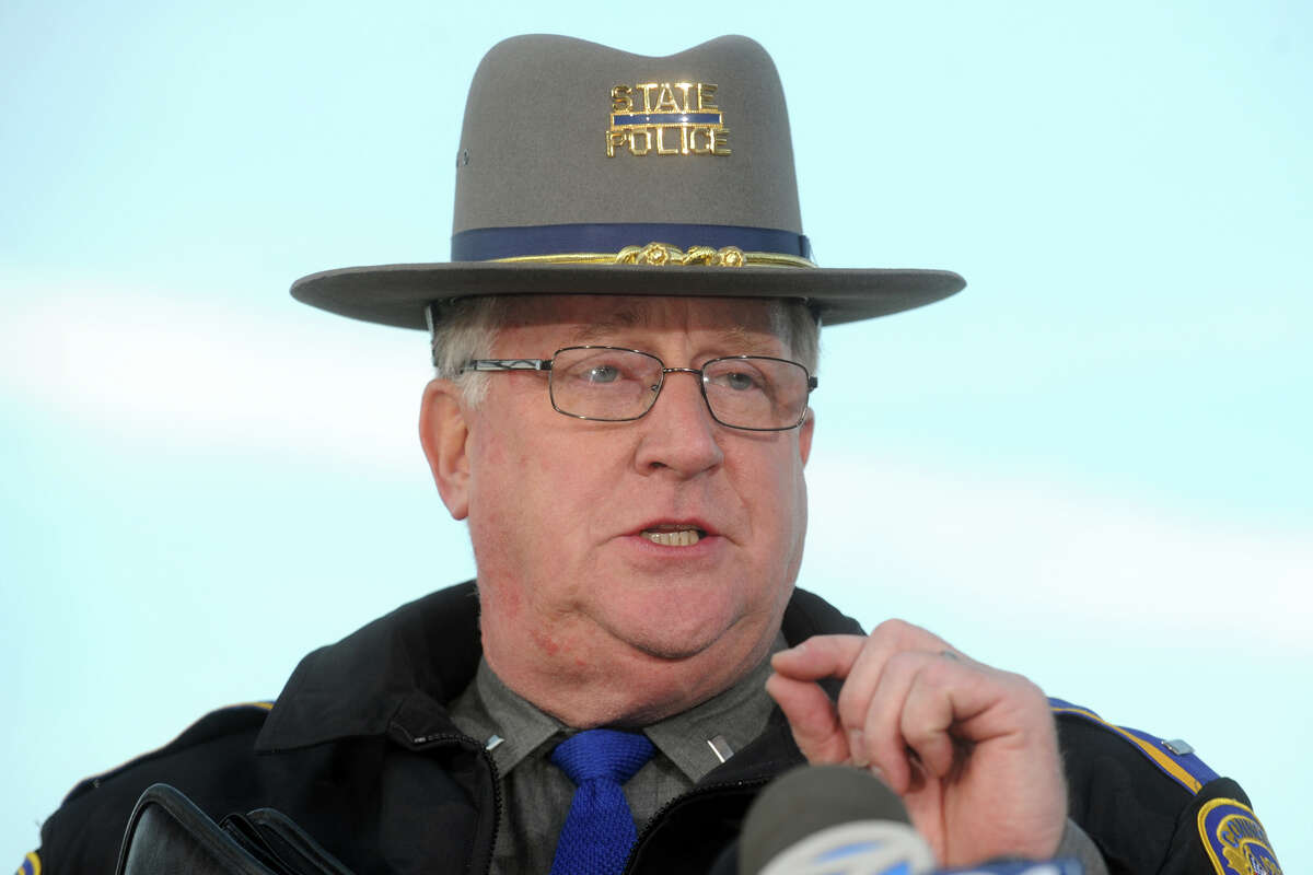 State Police Lt. J Paul Vance speaks at a press conference in Newtown, Conn., following the mass shooting at Sandy Hook Elementary School Dec. 14, 2012.