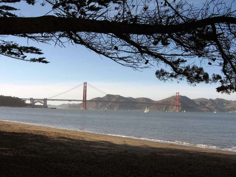Run along the beach or swim at Crissy Field. Photo: The Gadabout blog.