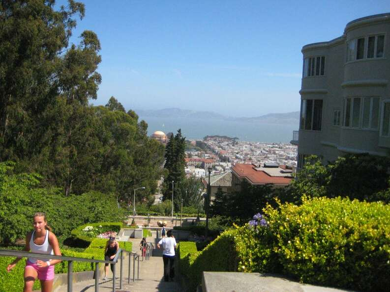 Stairways (with incredible views) are ubiquitous-- and very long--in SF. Photo: Crossfit Sweat Shop.