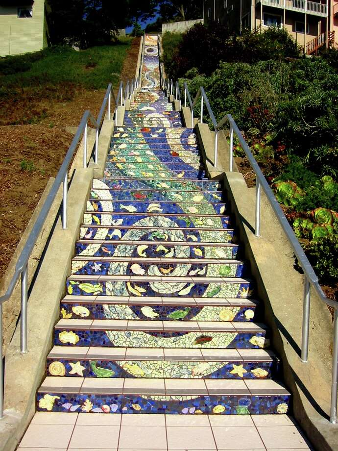 In Golden Gate Heights, these stairs make a lovely climb as well. Photo: 16th Ave Tiled Steps Project