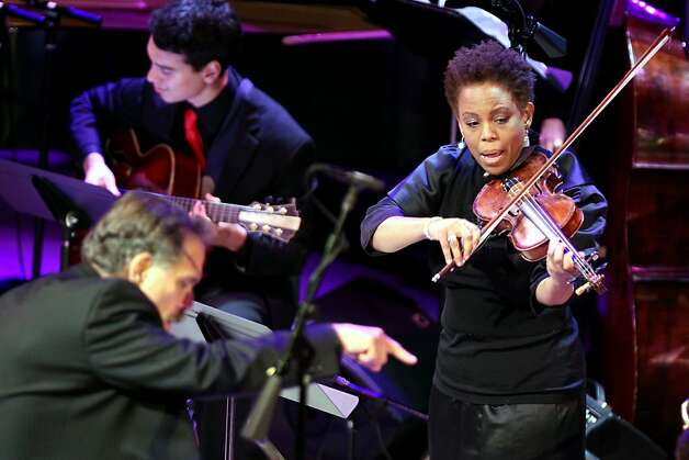 Violinist Regina Carter performs. Photo: Lance Iversen, The Chronicle