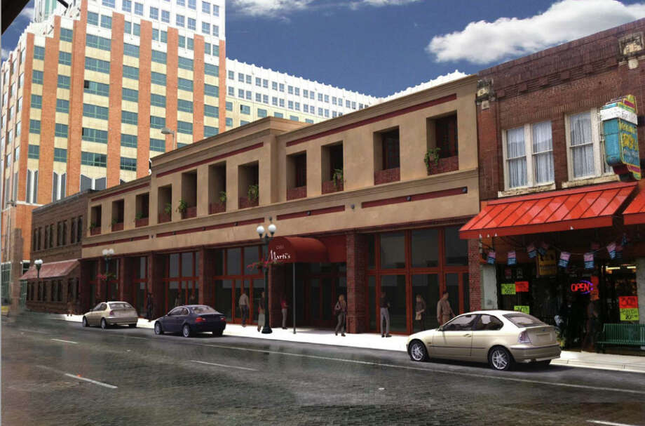 Renderings for the rehabilitation of the Kline's building, 337 W. Commerce St.
