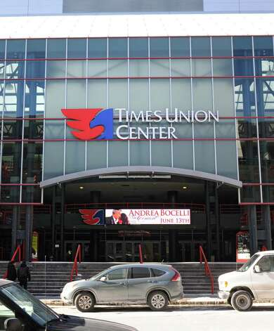 Exterior of the Times Union Center on North Pearl Street on Thursday Jan. 24, 2013 in Albany, N.Y.  The arena boosted operating profit 64 percent last year despite hosting marginally fewer events than in 2011,  officials announced Thursday. (Lori Van Buren / Times Union) Photo: Lori Van Buren