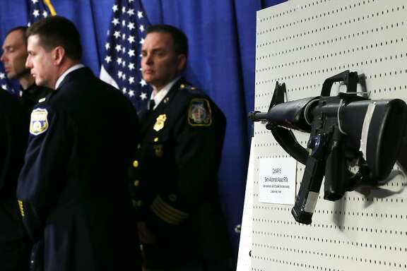 WASHINGTON, DC - JANUARY 24:  A Colt AR-15 Semi-Automatic Assault Rifle is on display during a news conference January 24, 2013 on Capitol Hill in Washington, DC. U.S. Sen. Dianne Feinstein (D-CA) announced that she will introduce a bill to ban assault weapons and high-capacity magazines capable of holding more than 10 rounds to help to stop gun violence.  (Photo by Alex Wong/Getty Images)