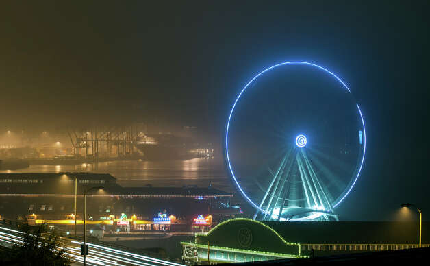A rather cool shot of the latest Seattle fog.