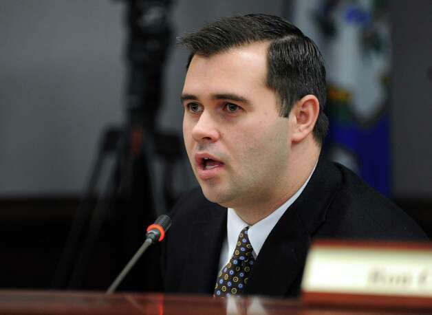 Committee member Christopher Lyddy, a former state legislator who represented Newtown who is a consultant on stress and trauma, speaks during the first meeting of the Sandy Hook Advisory Commission Thursday, Jan. 24, 2013 at the Legislative Office Building in Hartford, Conn. Photo: Autumn Driscoll / Connecticut Post