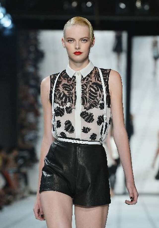 Black and white was one of the themes running through Wu's spring 2013 collection.