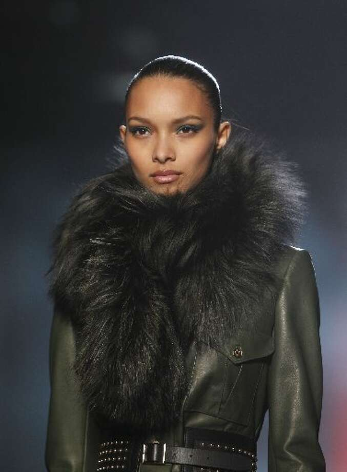Luxurious fur touches were also a major fall trend.
