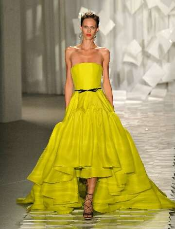 Butter yellow was one of Wu's spring 2012 hues.