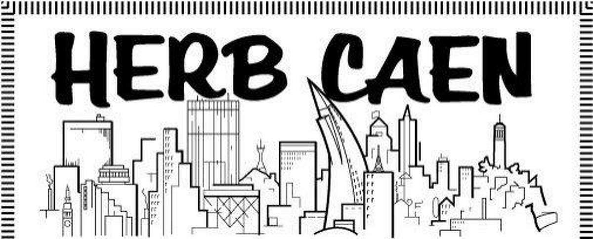 Herb Caen's column logo