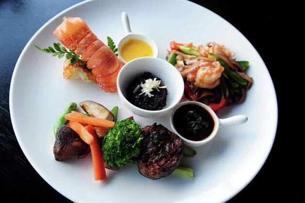 The Surf and Turf at Wafu Asian Bistro at 3671 Post Road in Southport, Conn. Photo: Autumn Driscoll / Connecticut Post
