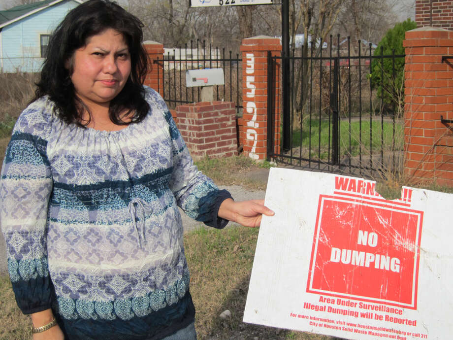 Theresa Armas, like many residents of Harris County, has spent years fighting to keep people from dumping garbage in the ditch on the street where her family has lived for two generations. Earlier story: Harris County prosecutor speaks out for voiceless animal victims - Houston Chronicle Photo: Ingrid Lobet / Houston Chronicle