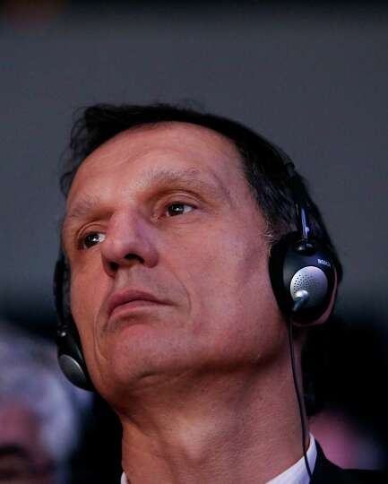 Giuseppe Recchi, non-executive chairman of Eni SpA, listens during a session on day two of the World
