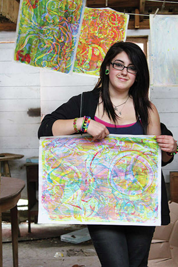 A student from Hoosick Valley High School is among the students who have benefitted from programs at the Salem Art Works. (submitted photo)