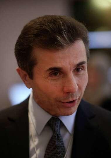 Bidzina Ivanishvili, Georgian billionaire, speaks to fellow delegates on day two of the World Econom