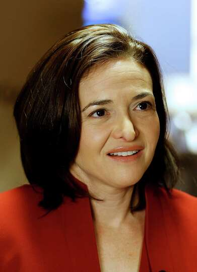 Sheryl Sandberg, chief operating officer of Facebook Inc., pauses during a television interview on d