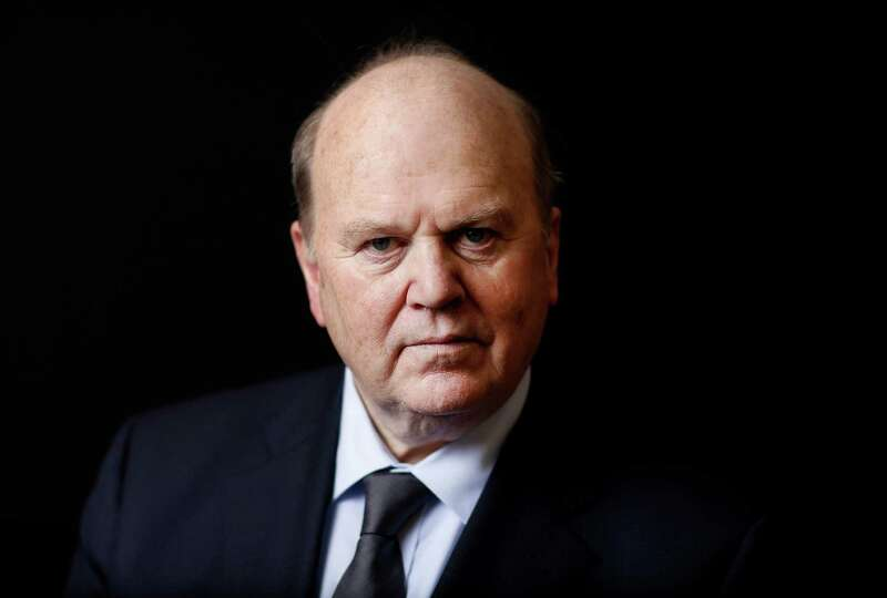 Michael Noonan, Ireland's finance minister, poses for a photograph following a Bloomberg Television