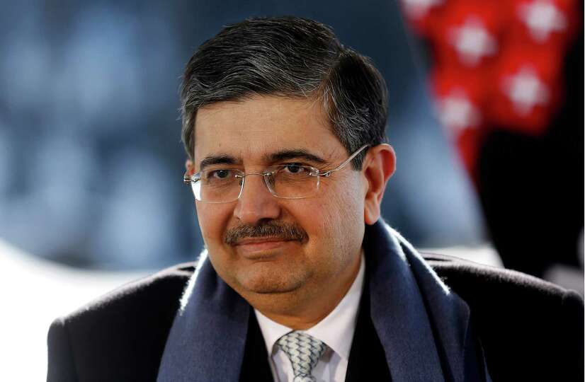 Uday Kotak, chairman of Kotak Mahindra Bank Ltd., pauses during a Bloomberg Television interview on