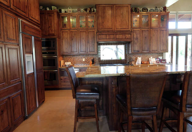 A view of the Guest's kitchen at their home northeast of New Braunfels, Sunday, Jan. 20, 2013. Photo: Jerry Lara, San Antonio Express-News / © 2013 San Antonio Express-News