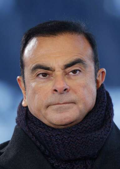 Carlos Ghosn, president and chief executive officer of Nissan Motor Co. Ltd., pauses during a Bloomb