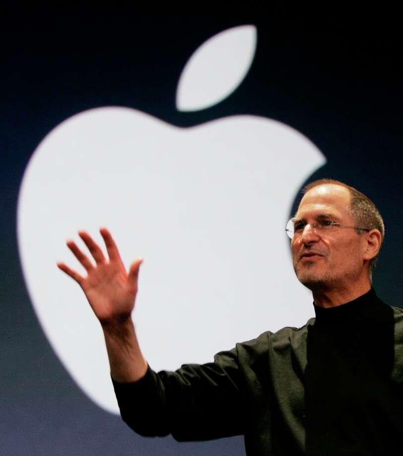 Apple CEO Steve Jobs during his keynote address at MacWorld Conference & Expo in San Francisco, Tuesday, Jan. 9, 2007. Photo: PAUL SAKUMA, ASSOCIATED PRESS / AP2007