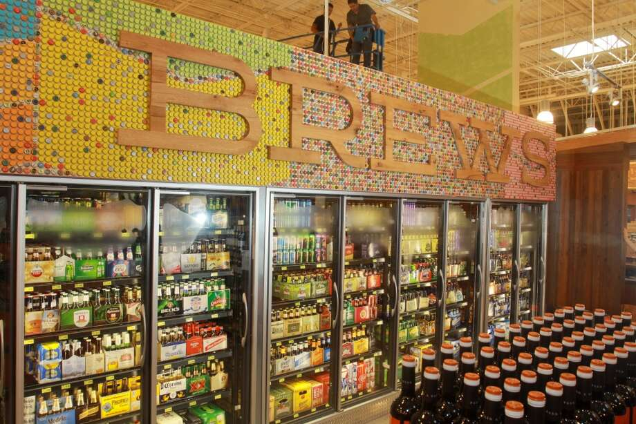 Brews, the specialty brew selection with an emphasis on local beers in the new Whole Foods Market in Katy, Jan. 24, 2013.