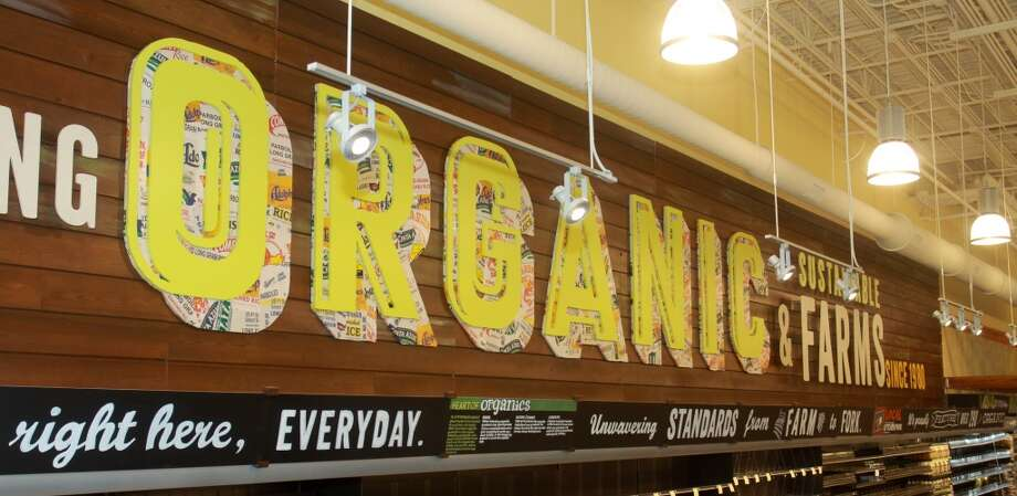 The produce department with over 290 organic items in the new Whole Foods Market in Katy, Jan. 24, 2013.