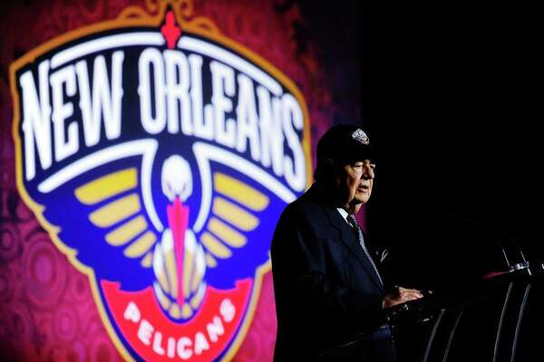 NEW ORLEANS, LA - JANUARY 24:  Tom Benson, owner of the New Orleans Pelicans, speaks at a press conference to announce the name change from the New Orleans Hornets to the New Orleans Pelicans at the New Orleans Arena on January 24, 2013 in New Orleans, Louisiana.