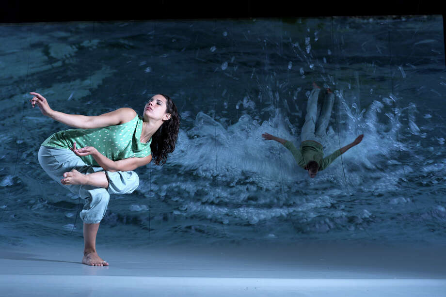 "A scene called ""Splash"" from the Motionhouse dance performance piece ""Scattered."" (Chris Nash)"
