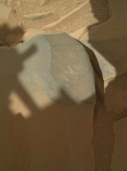 '''Bathurst Inlet' Rock on Curiosity's Sol 54, Context View''NASA's Mars rover Curiosity hel