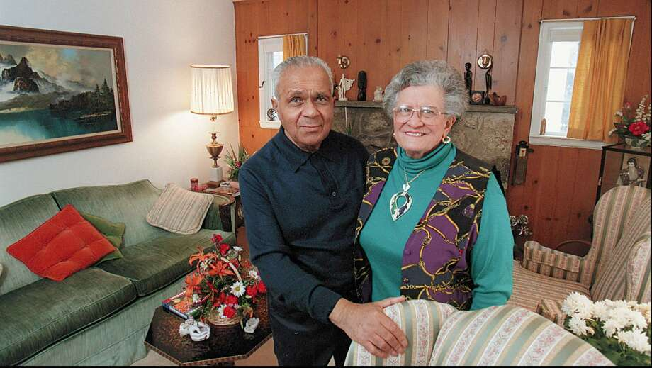 "Jim Foreman and his wife Beatrice ""Bea"" Foreman in 1996. The late Jim Foreman was the first black police officer to serve with the Stamford (Conn.) Police Department. Bea Foreman died Jan. 15. Photo: ST"