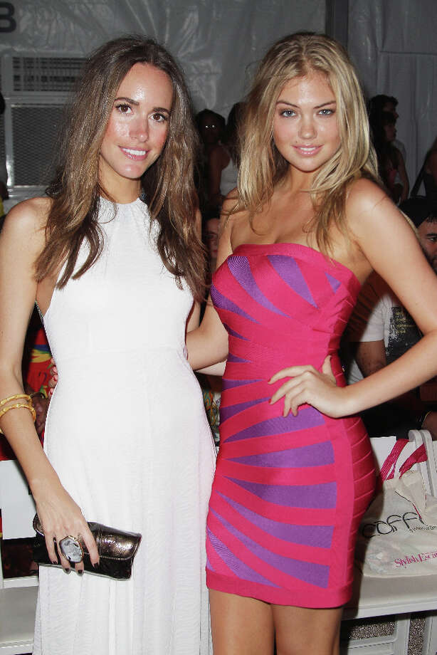 TV personality Louise Roe and model Upton attend the Caffe Swimwear show in 2011. Photo: Alexander Tamargo / 2011 Alexander Tamargo