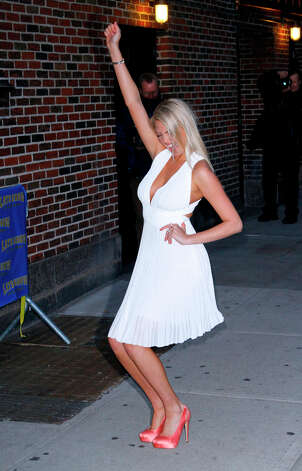 Upton leaving The Late Show with David Letterman in 2012 in New York City. Photo: Donna Ward, Getty Images / 2012 Donna Ward