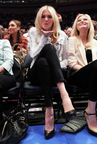... attending the game between the New York Knicks and the Los Angeles Clippers. Photo: Chris Trotman, Getty Images / 2012 Getty Images