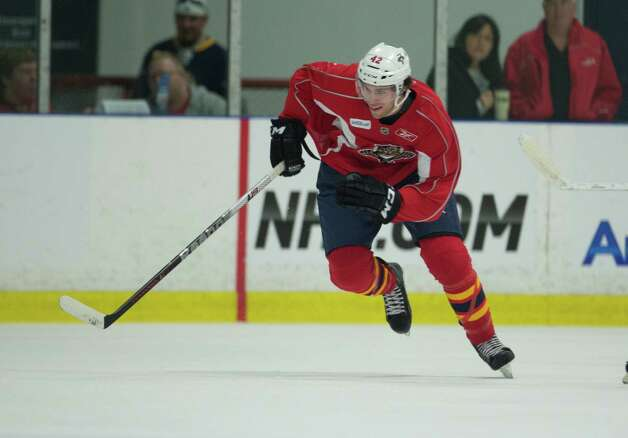 Florida Panthers' Howden Quinton during the team's NHL training camp in Coral Springs, Fla. Monday, Jan. 14, 2013. (AP Photo/J Pat Carter) Photo: J Pat Carter, EN / AP