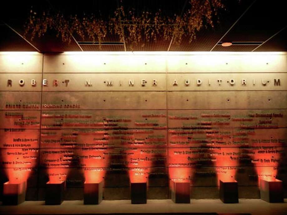 The Founders' Wall of the Robert N. Miner Auditorium