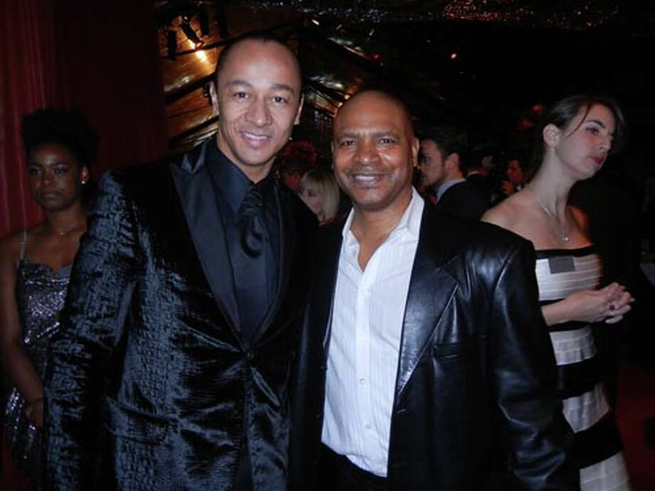 Musician Frederic Yonnet (left) with SFJAZZ Collective trombonist Robin Eubanks