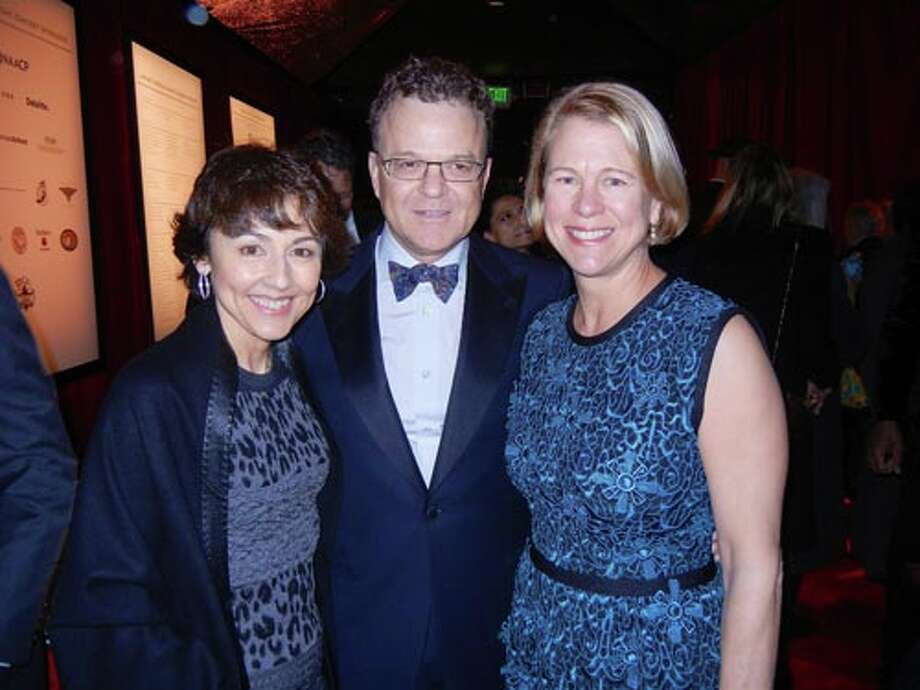 SF Symphony President Sako Fisher (left) with SFJAZZ Trustee Tim Dattels and his wife, Kristine Johnson