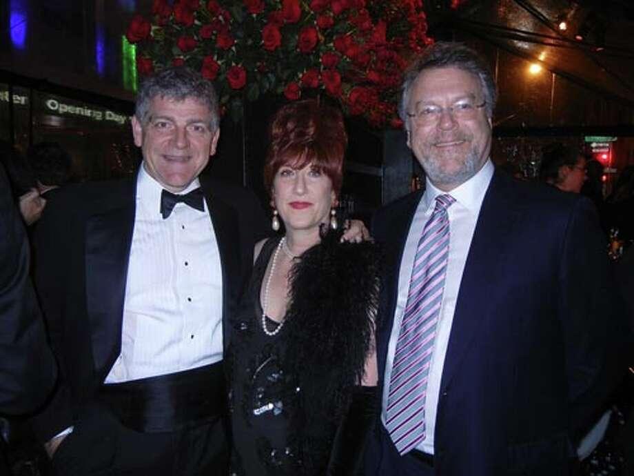 CIIS Professor Alfonso Montuori and his wife, jazz artist Kitty Margolis with SFJAZZ Trustee Nion McEvoy