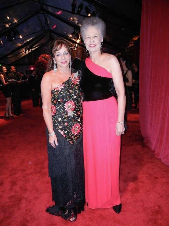 Donna Huggins (left) with SFJAZZ Trustee Del Handy