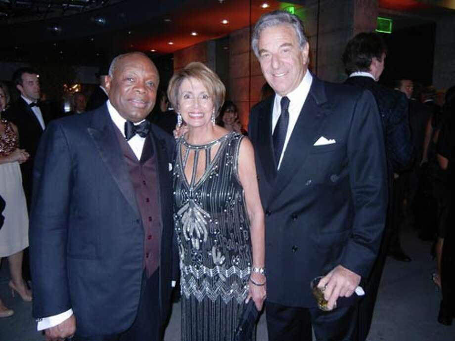 SFJAZZ Trustee and Da Mayor Willie Brown (left) with Nancy and Paul Pelosi