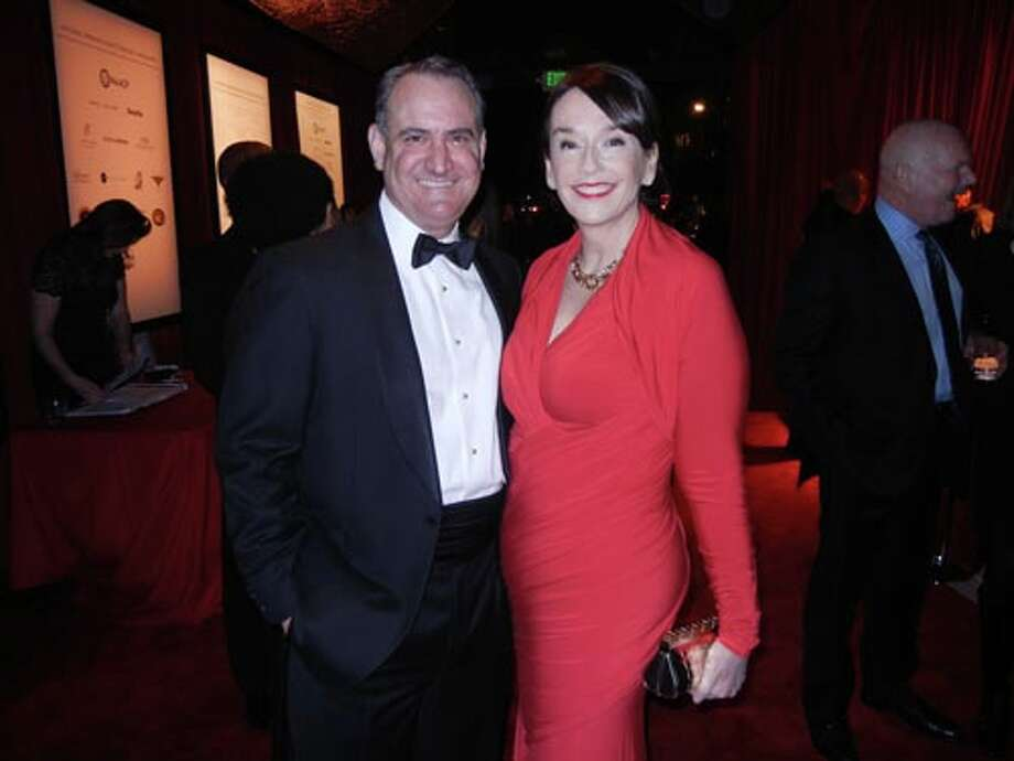 Hathaway Dinwiddie VP Ed Conlon, whose firm constructed the SFJAZZ Center, with his wife, Academy of Art President Elisa Stephens