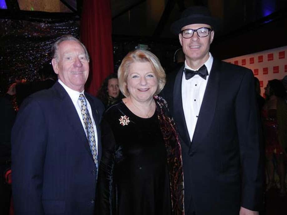 Larry Blum and his wife, SF Film Society Trustee Melanie Blum with Joshua Johnson