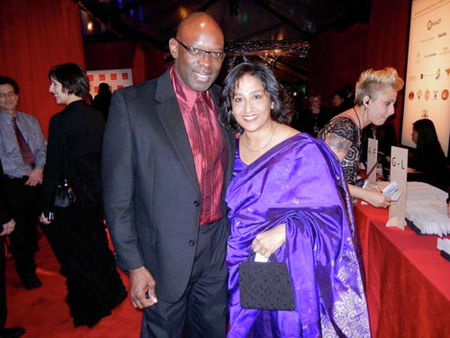 Ron McCurdy and former SFJAZZ Trustee Srinija Srinivasan