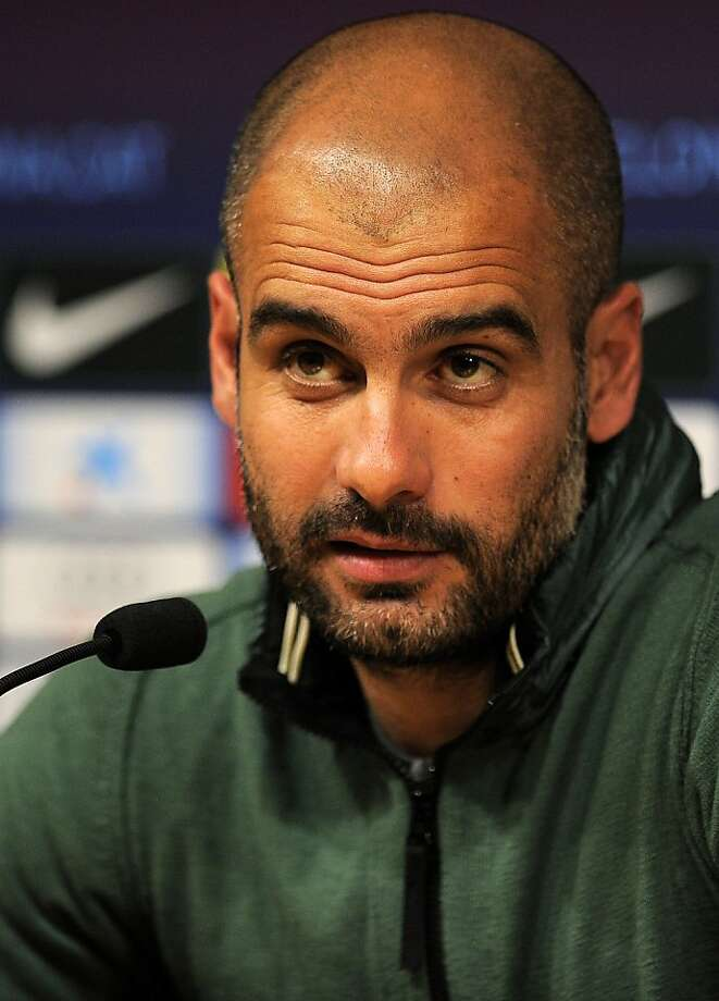 Coach Pep Guardiola is taking his talents to Bayern Munich. Photo: Lluis Gene, AFP/Getty Images