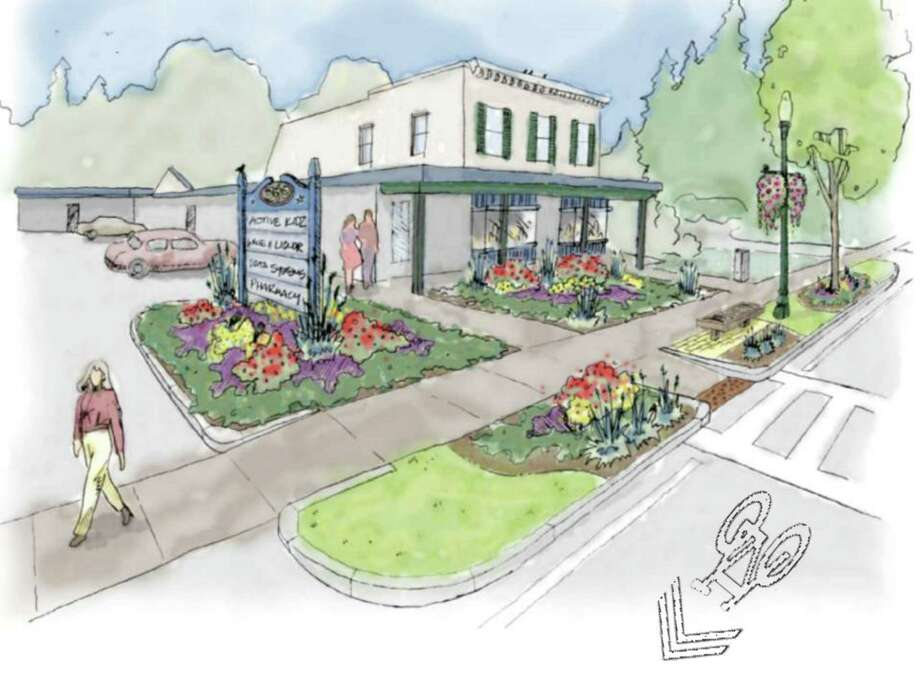 Rendering showing proposed design standards and guidelines to improve the streetscape along Delaware Avenue in Delmar, N.Y. (Town of Bethlehem) Photo: Robert Leslie