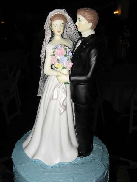 A wedding cake topper.